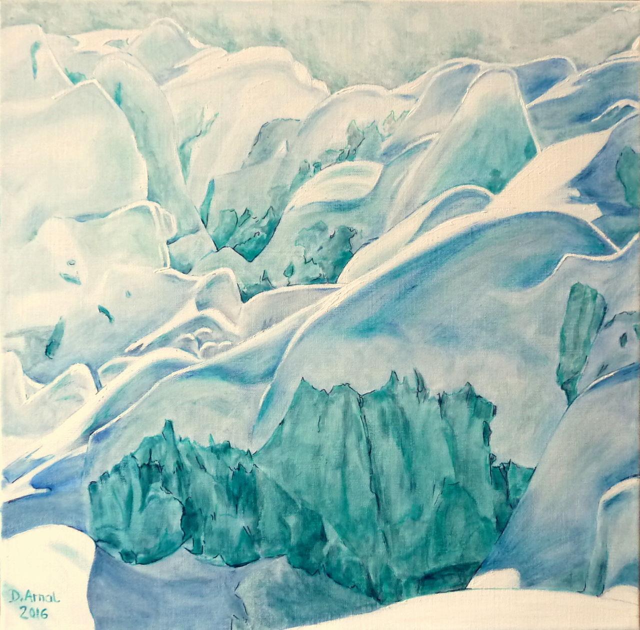 Danielle Arnal neige sur glace
