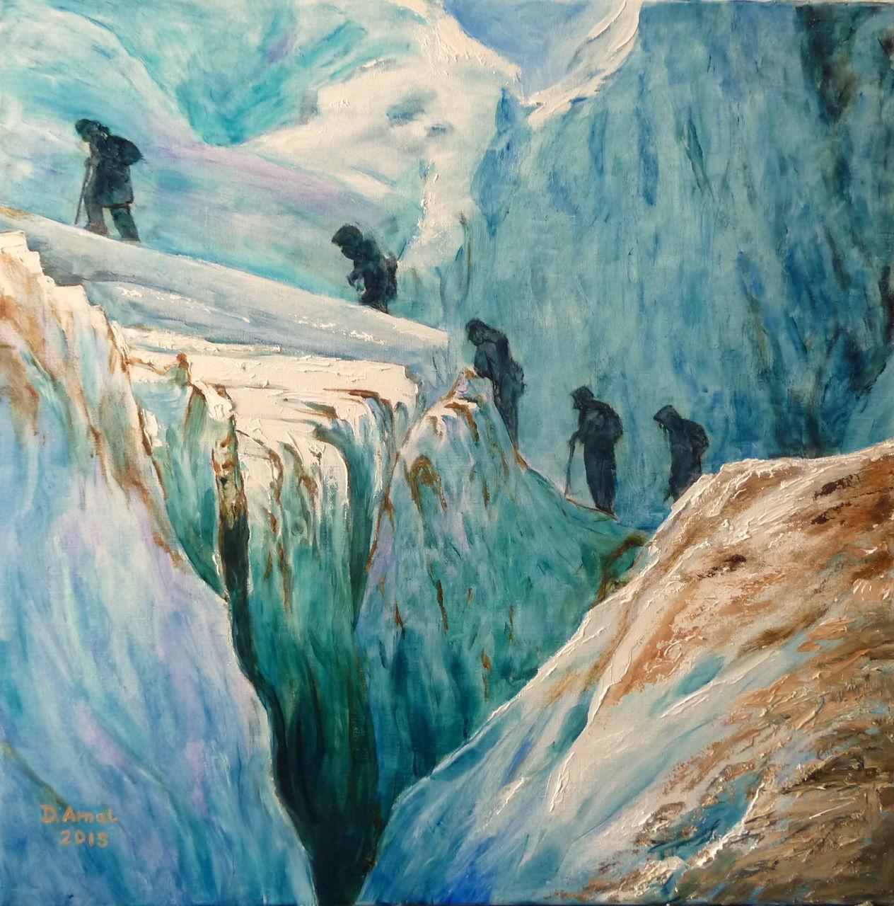Danielle Arnal Passage sur le glacier