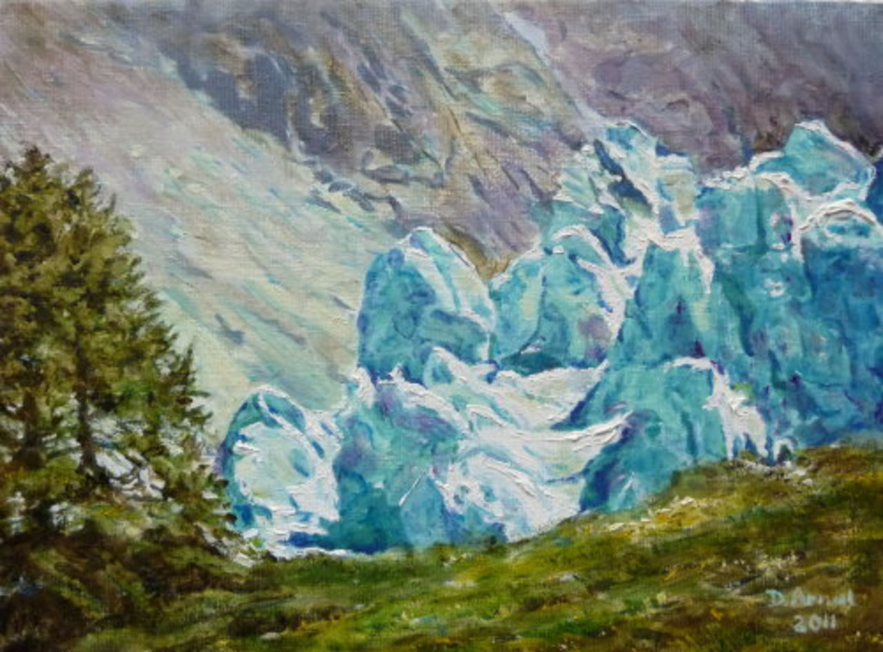 Danielle Arnal séracs au glacier d'Argentière