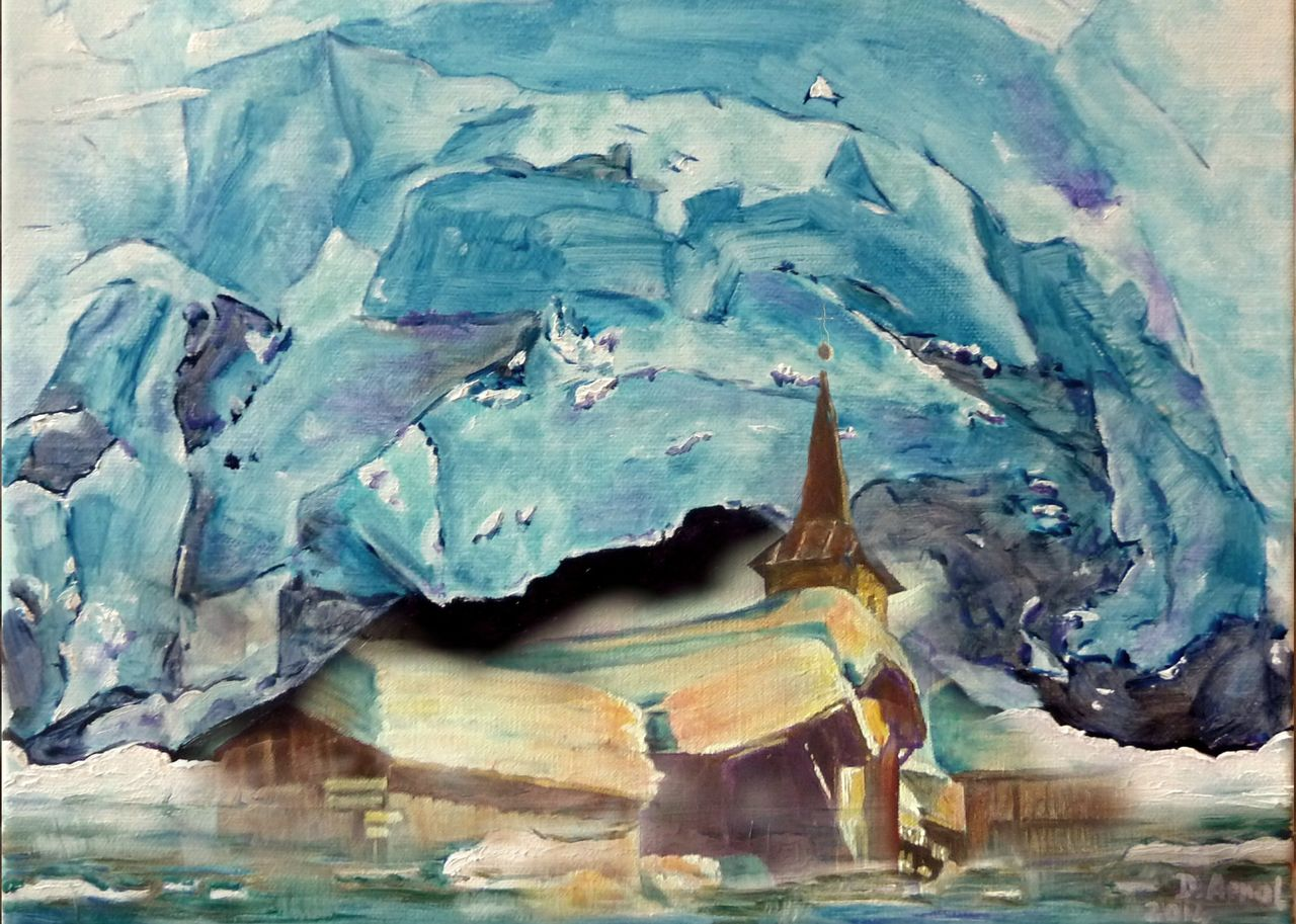 Danielle Arnal village du Tour avalé par le glacier
