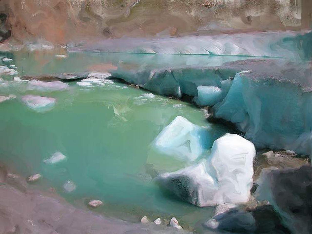 Danielle Arnal lac glaciaire