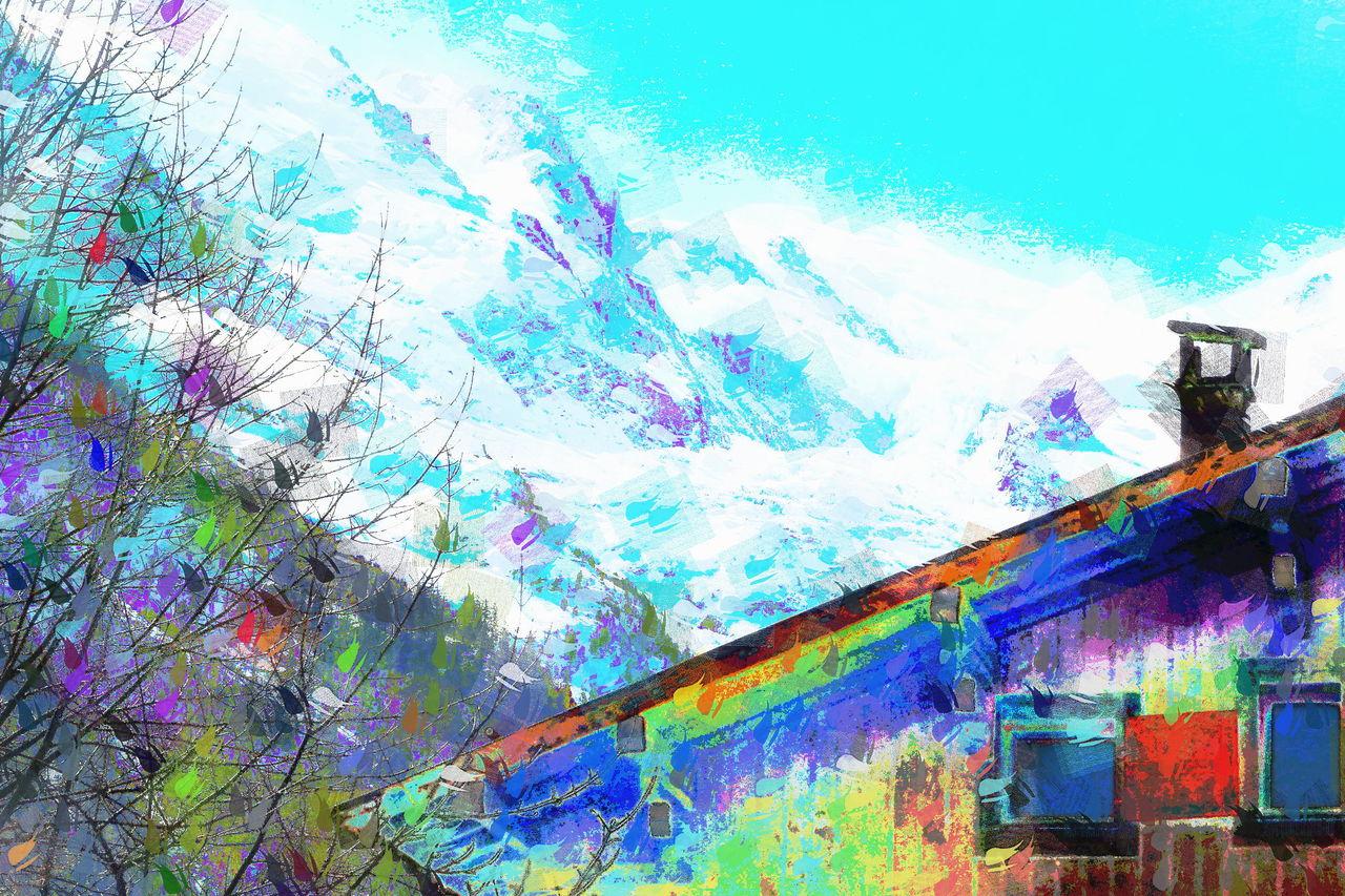 Danielle Arnal Mont-Blanc par dessus les toits