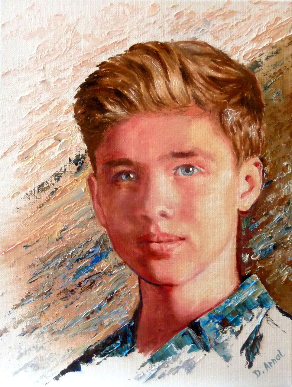 Danielle Arnal portrait de jeune homme