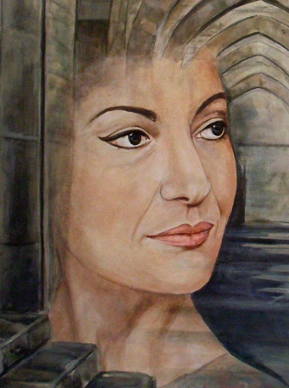 Danielle Bellefroid Una furtiva lagrima.( détail Maria Callas )