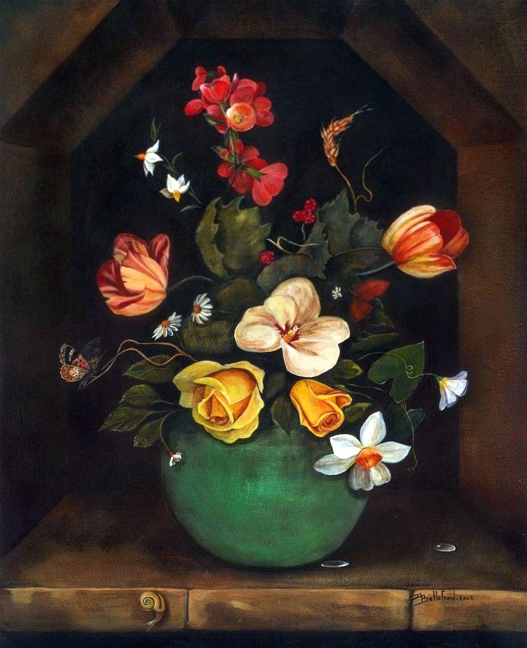 Danielle Bellefroid Vase bleu