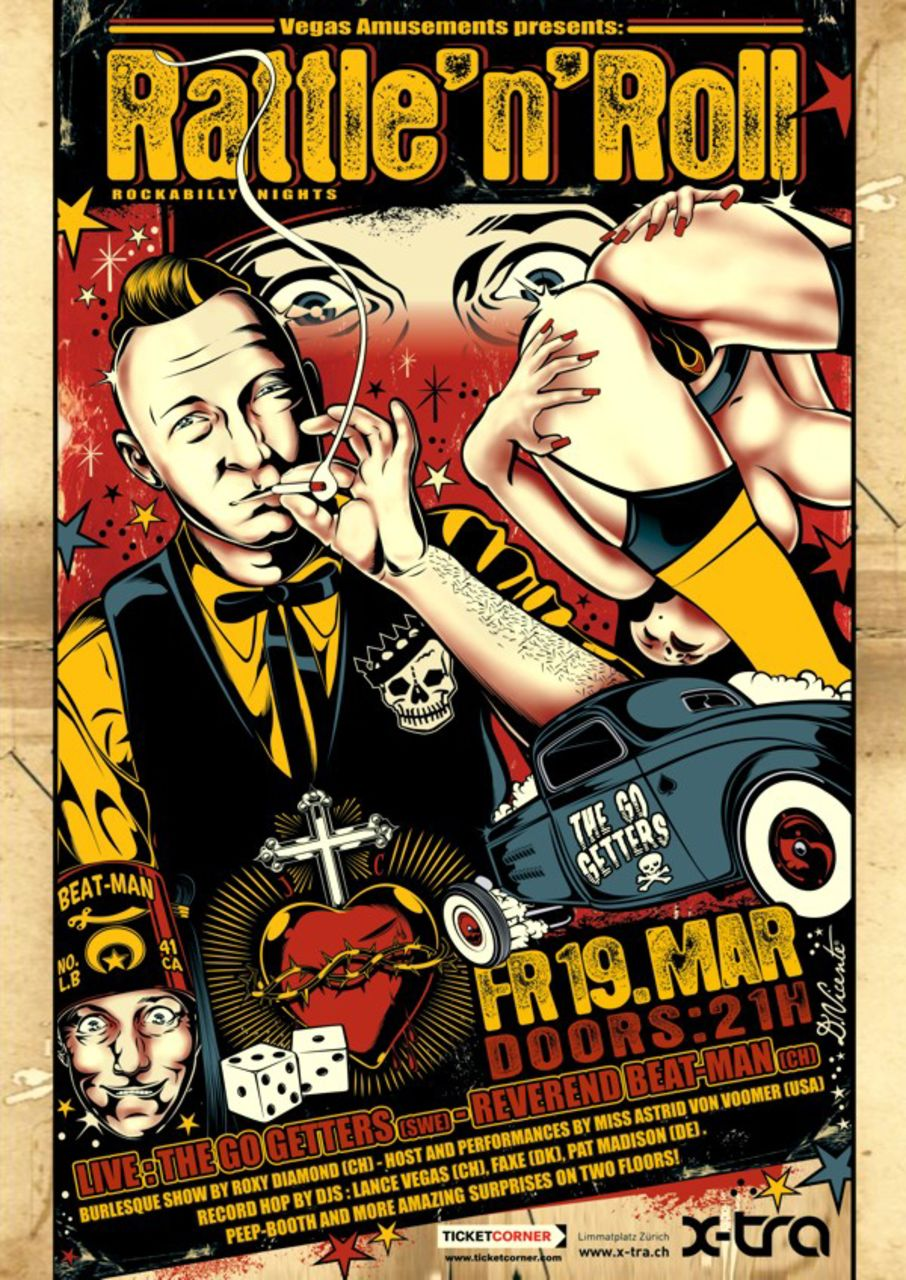 David  Vicente Poster RATTLE'N'ROLL
