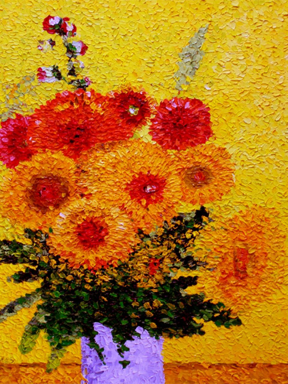 didier Fallières Bouquet de Chrysanthèmes