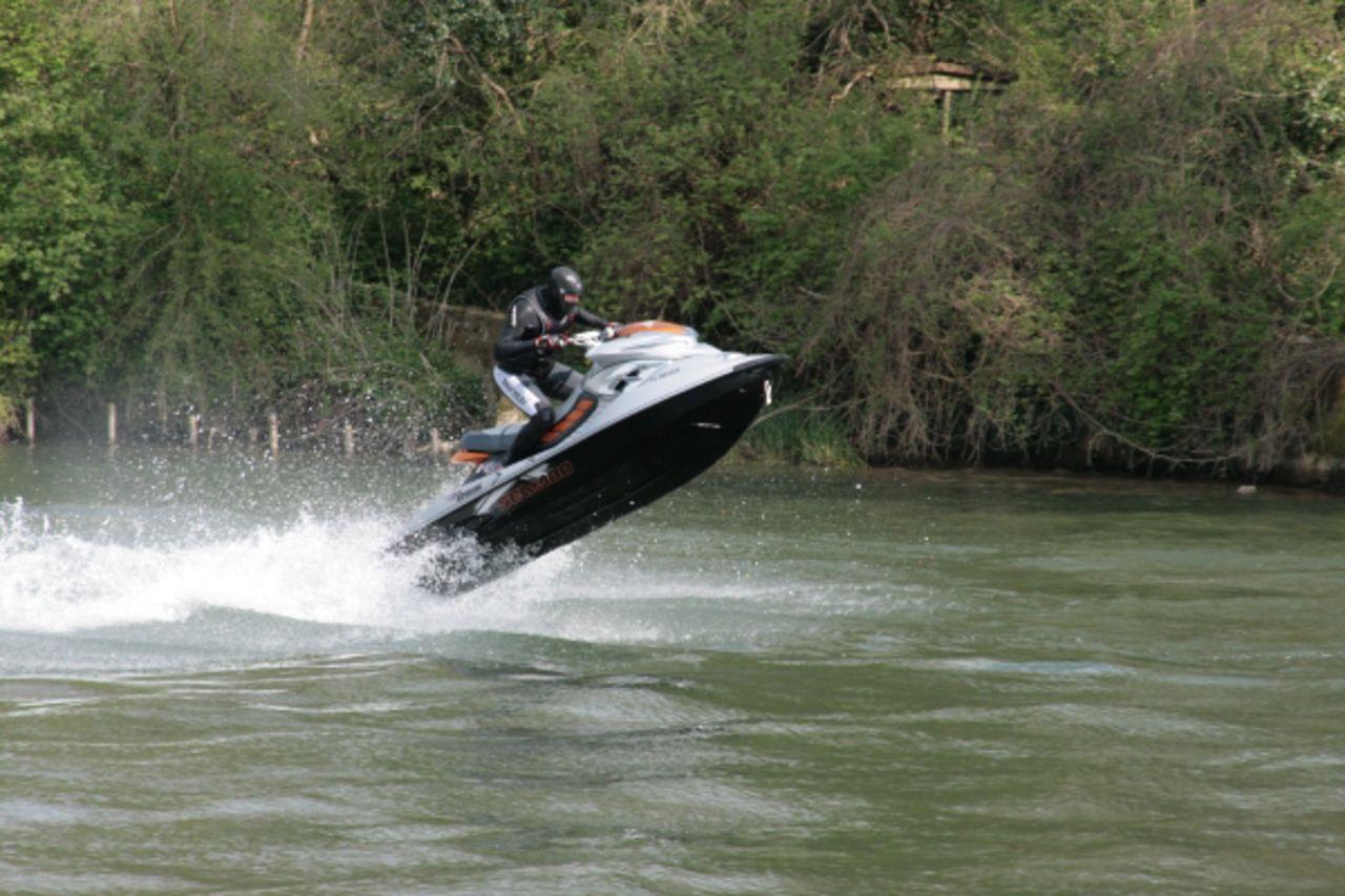 Didier Harmant Saut en Jet ski