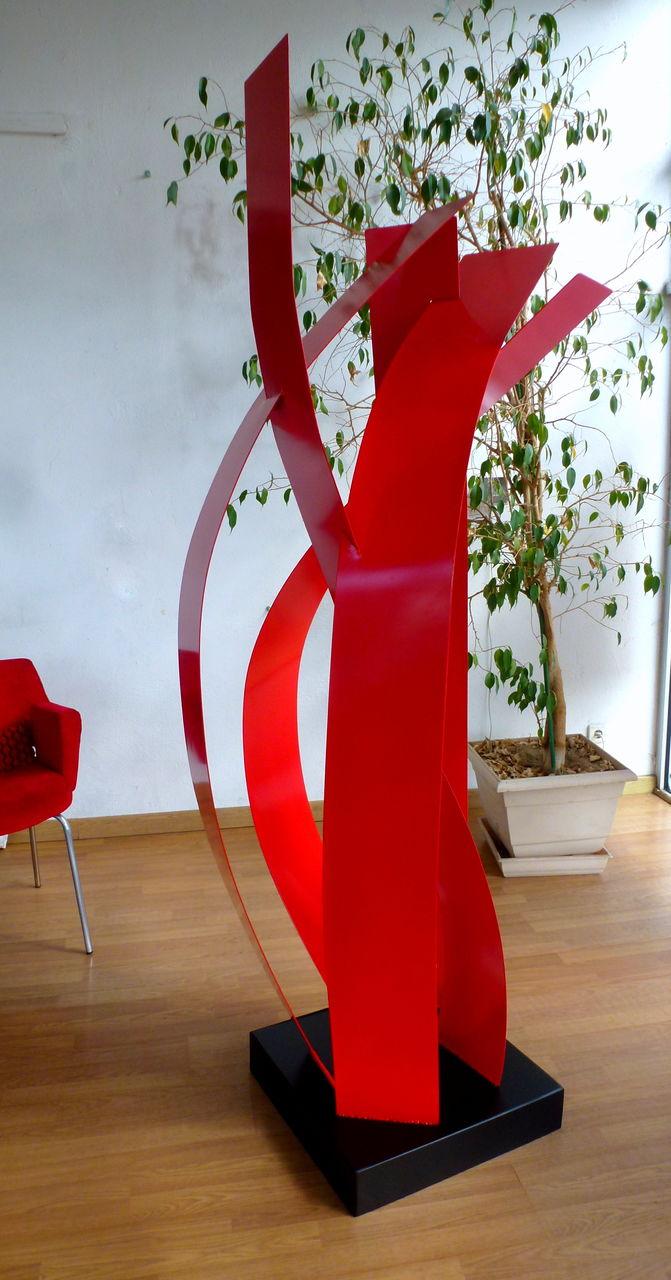 Dominique Balouet Art LA FLAMME ROUGE