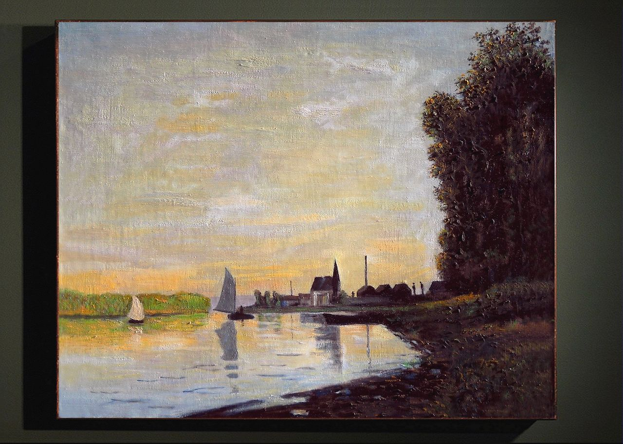 Dominique Imbert Argenteuil, fin d'après midi. Copie d'un Monet. Argenteuil late afternoon.