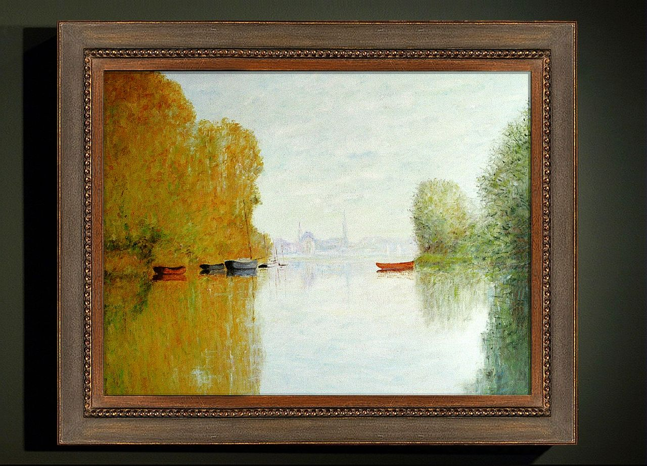 Dominique Imbert Copie d'un Monet. Automne sur la Seine. Autumn on the Seine at Argenteuil