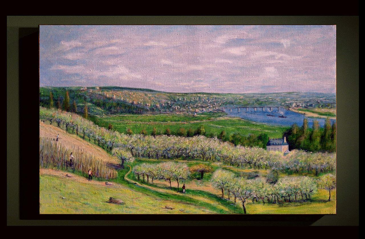 """Dominique Imbert Copie d'un Sisley """"La terrasse à Saint Germain"""""""