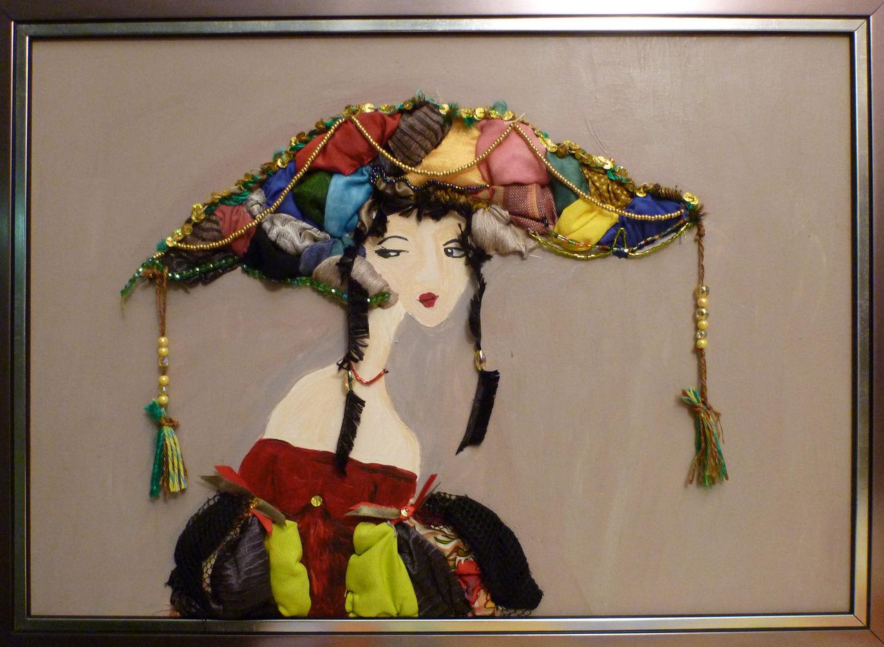 Eliane Spasaro Dame au chapeau