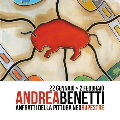 """Andrea Benetti """"ANFRATTI DELLA PITTURA NEORUPESTRE"""" a cura di Francesco Elisei"""