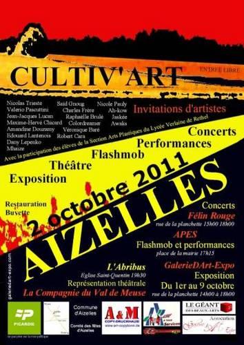 Cultiv'Art - Invitations d'artistes 2011 à Aizelles