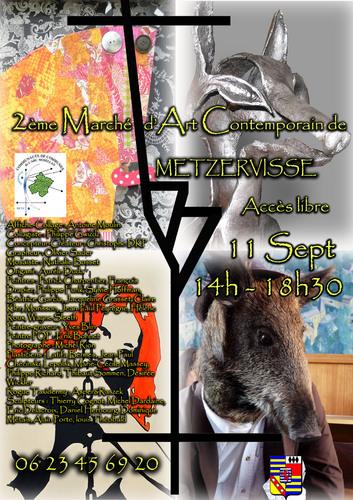 Exposition 2éme Marché d'Art Contemporain de Metzervisse