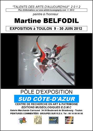 Exposition au C.R.A.C.P. de Toulon de la Peintre Martine BELFODIL