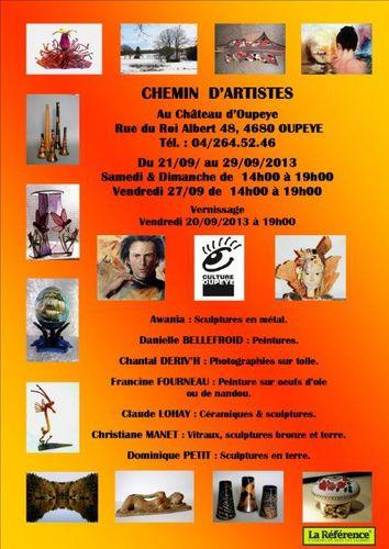 Exposition Chemin d' Artistes