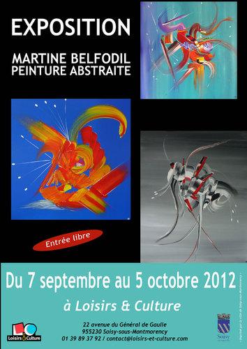 La Peintre Martine BELFODIL expose à Soisy sous Montmorency (95230)