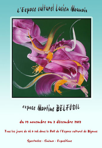Martine BELFODIL expose ses tableaux contemporains à Biganos