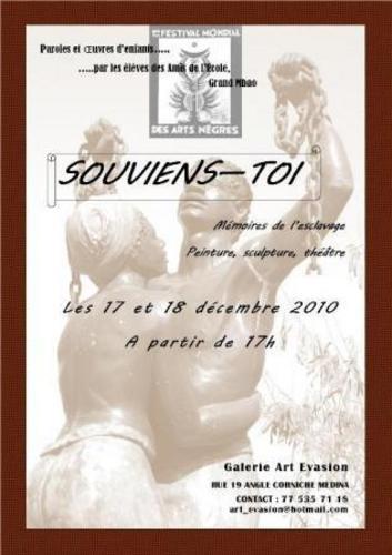 SOUVIENS TOI  Mémoire de l'esclavage