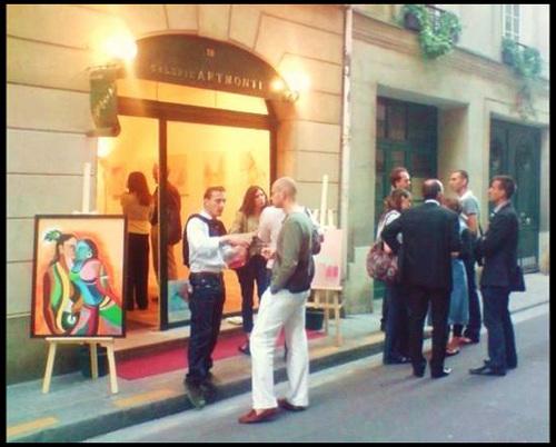 Vernissage et exposition de la Peintre Martine BELFODIL à la Galerie ARTMONTI du 3 au 15 mai 2012