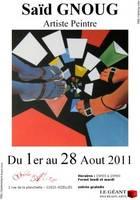 Exposition du peintre Saïd Gnoug à Aizelles (02)