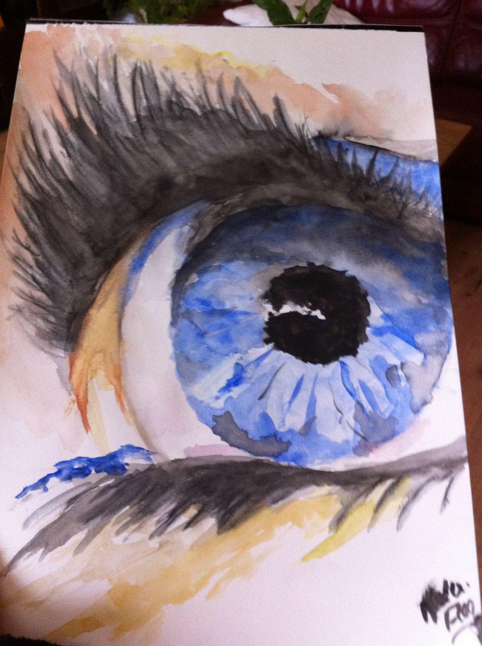Florence Oeil à l'aquarelle