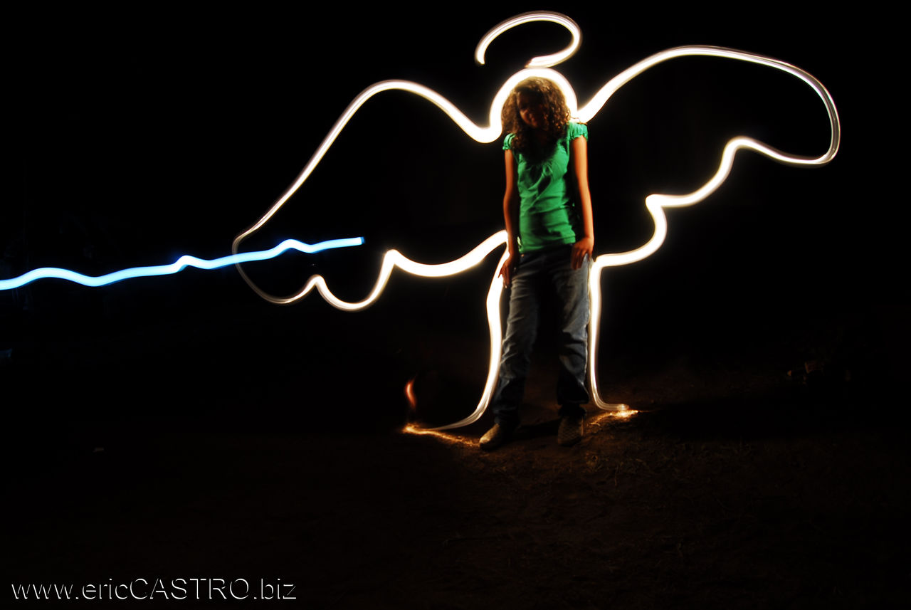 Franck X Angel light art (light painting)