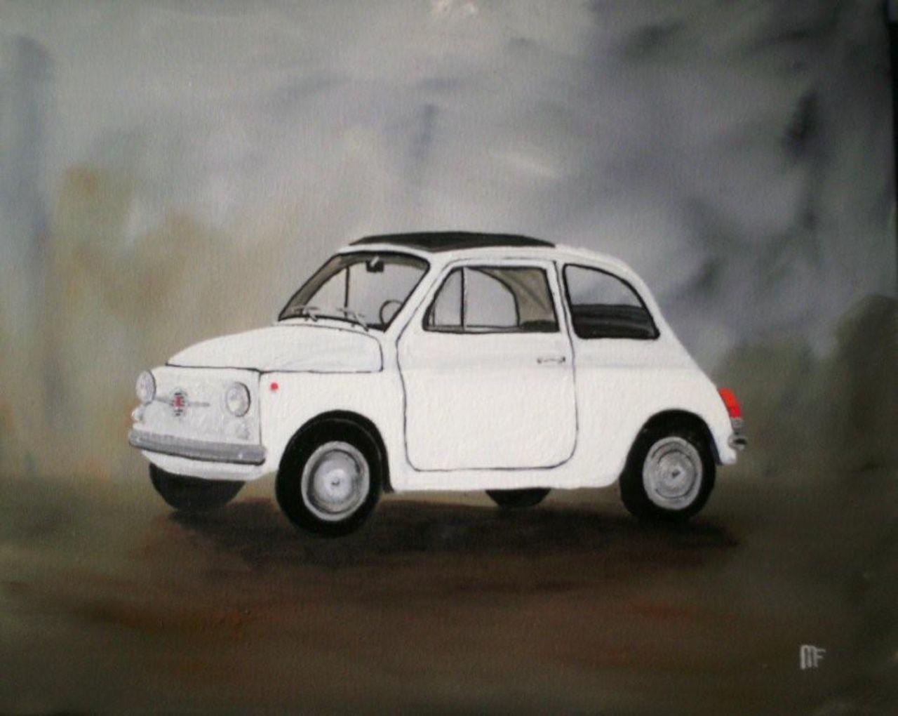 francois mouillard Fiat 500    40x50     225 €