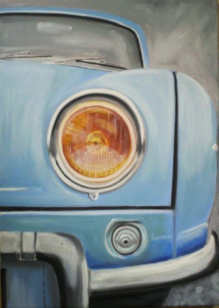 francois mouillard Renault DAUPHINE   70x50     315 €