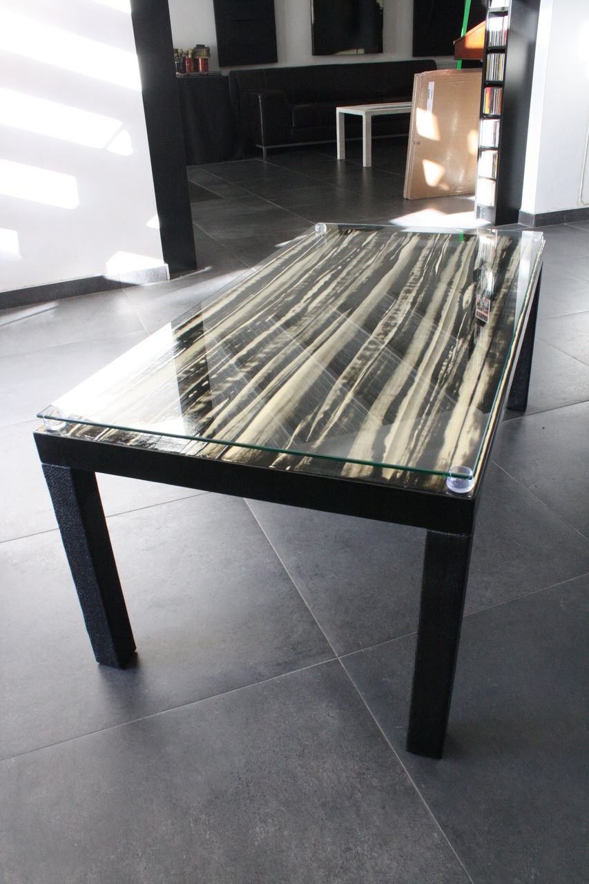 "Frédéric  Halbreich Table ""Impression sur la queue de Robespierre"""