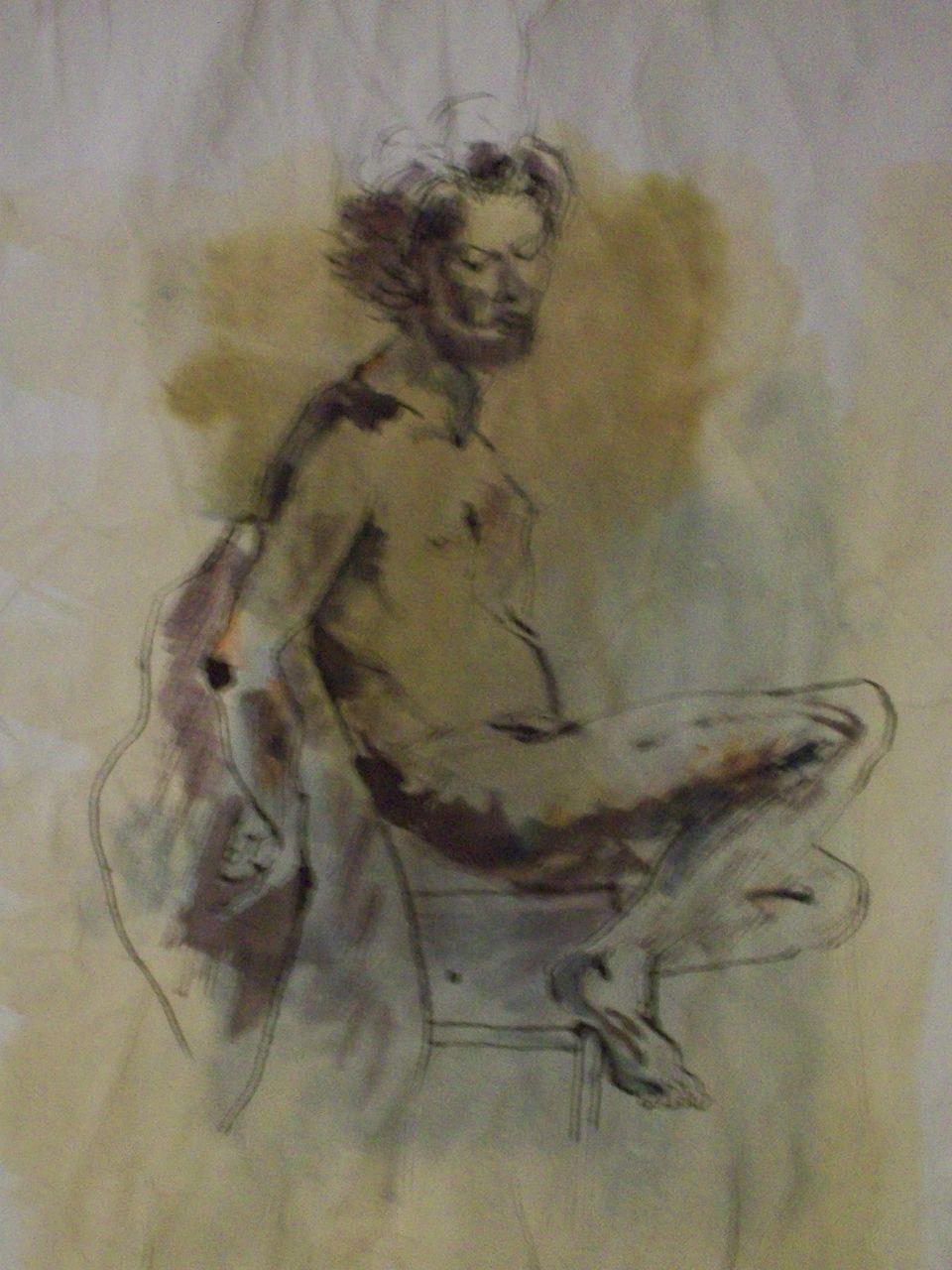 genevieve Bonnet-Cadith Nu assis