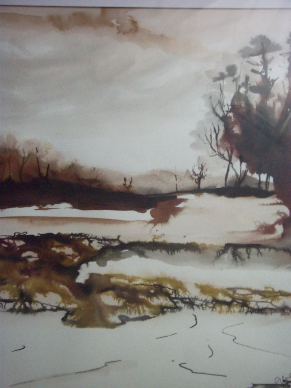 genevieve Bonnet-Cadith paysage brun 2006