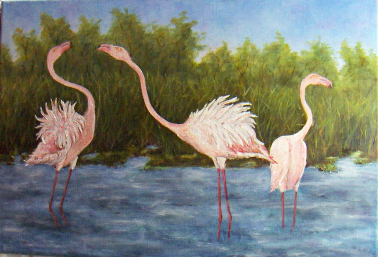 Georges RUAULT Flamants rose