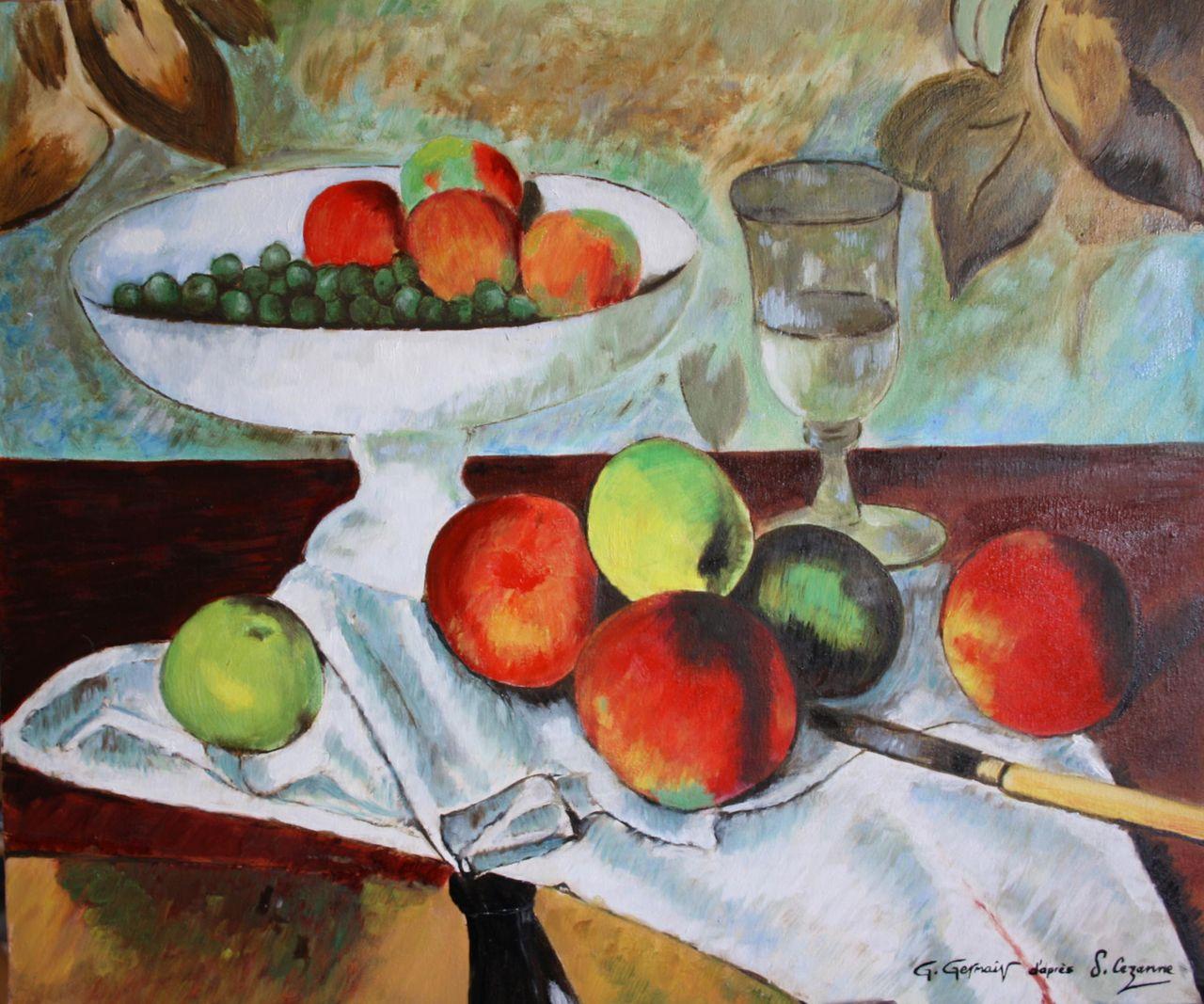 Gérard GERMAIN D'après Cézanne