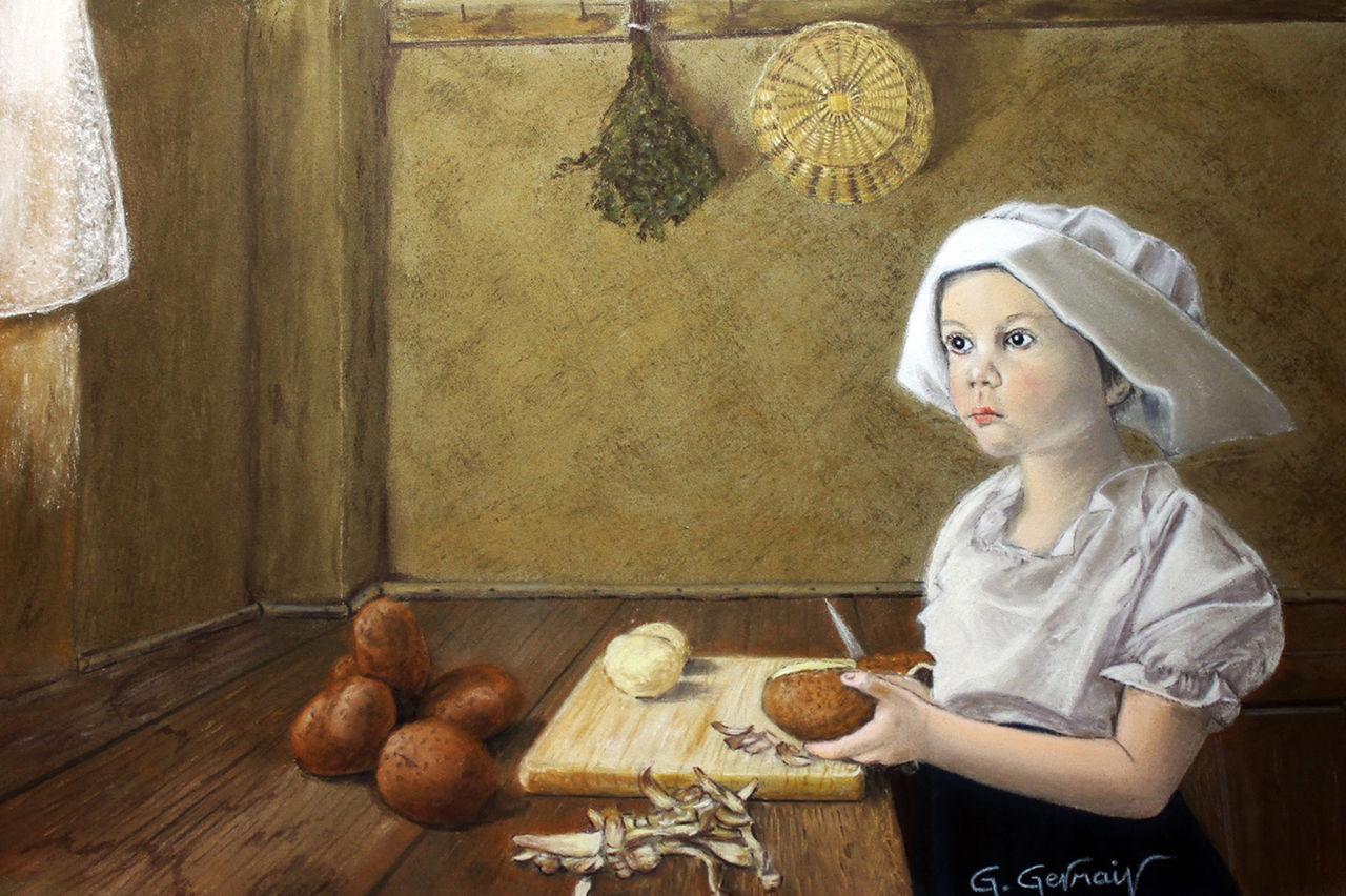 Gérard GERMAIN fillette pommes de terre
