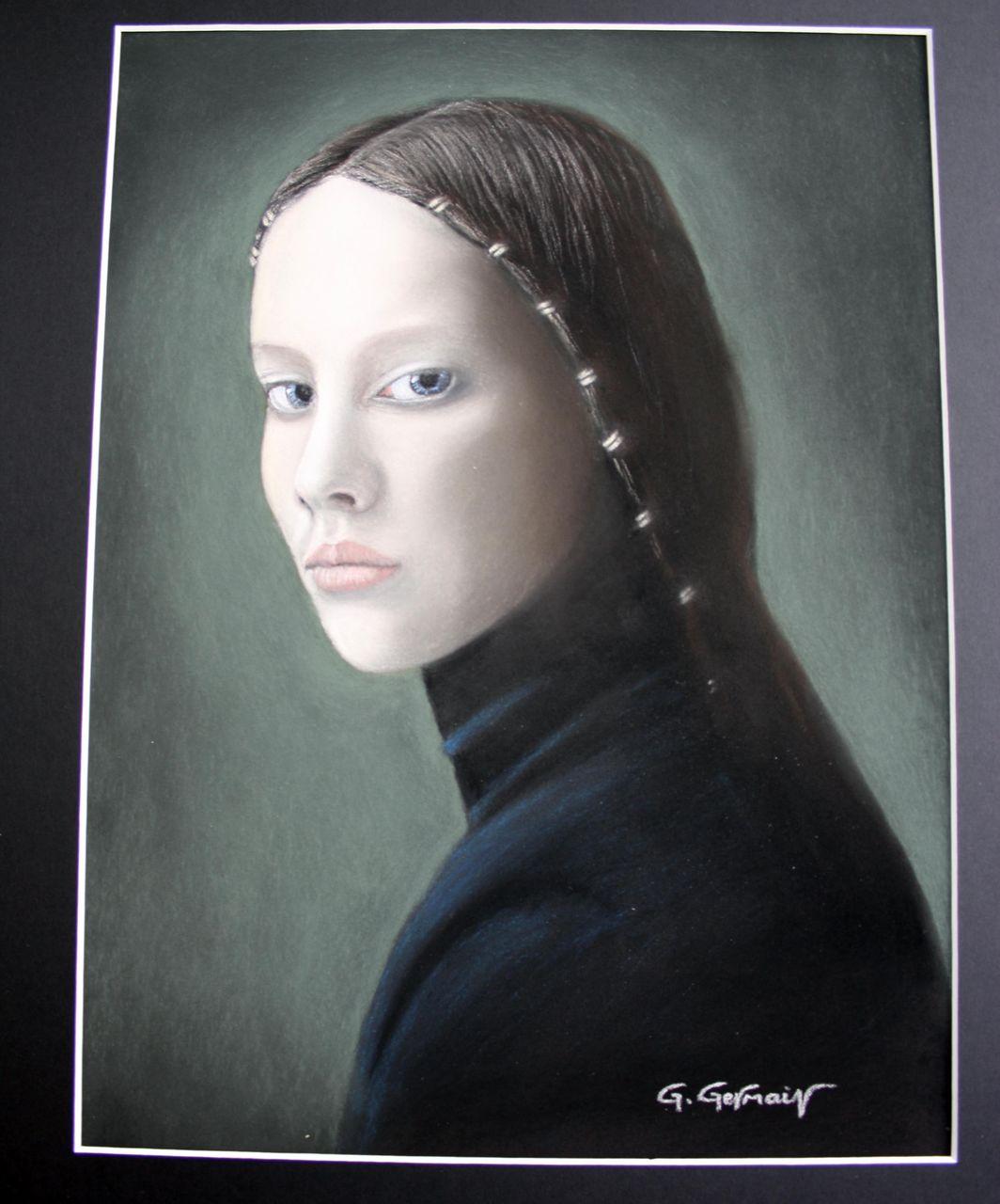 Gérard GERMAIN jeune fille (désirée Dolron)