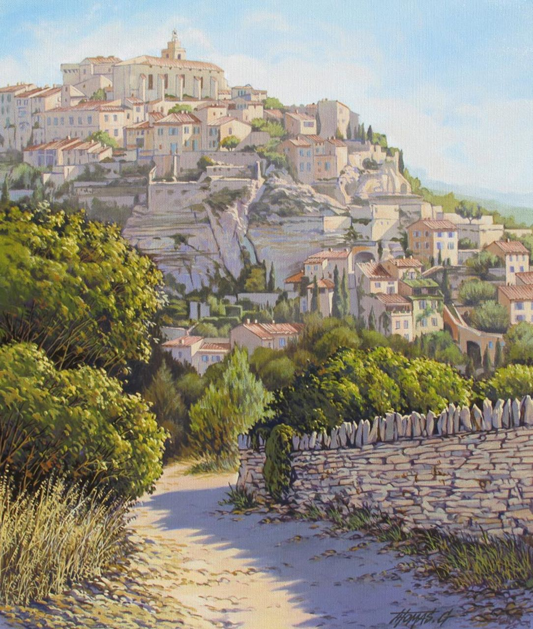 GILBERT THOMAS VILLAGE DE GORDES