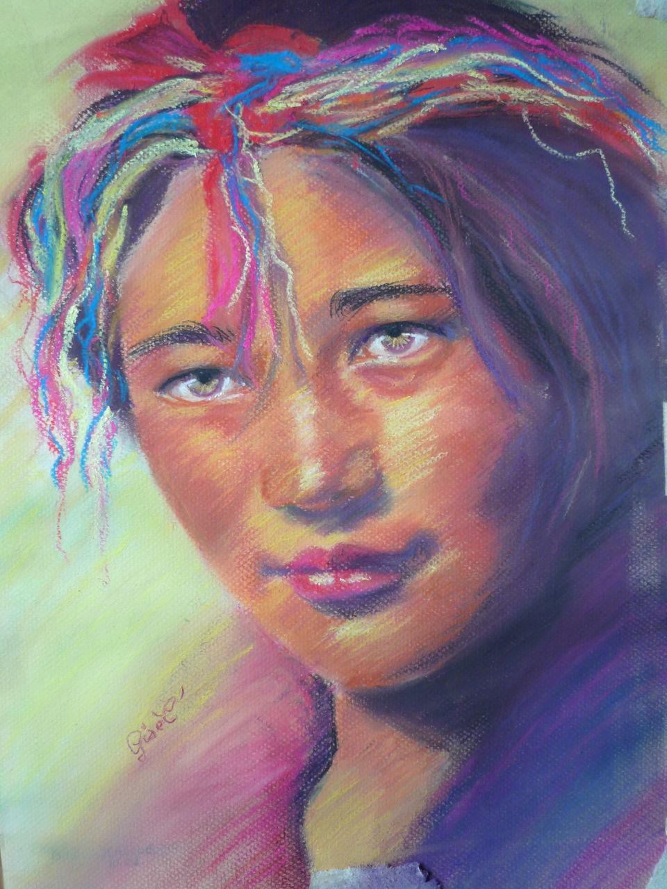gisel' portrait d'ailleur