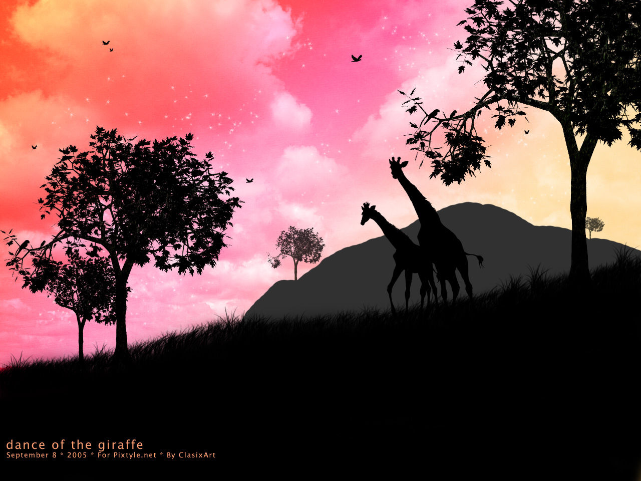 Guillaume Belche Wallpaper dance of the giraffe