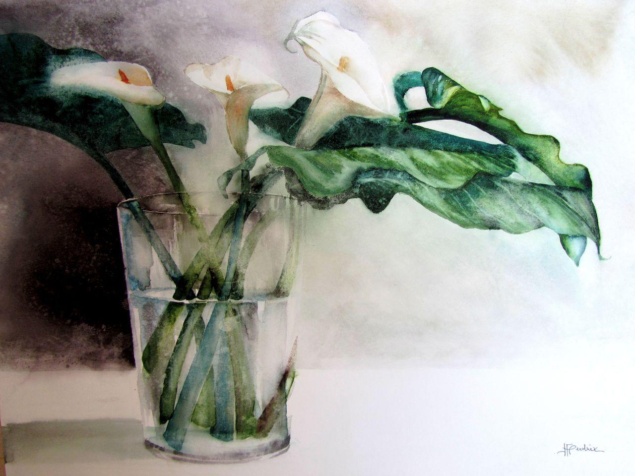 Isabelle Fournier Perdrix Aquarelle Floral