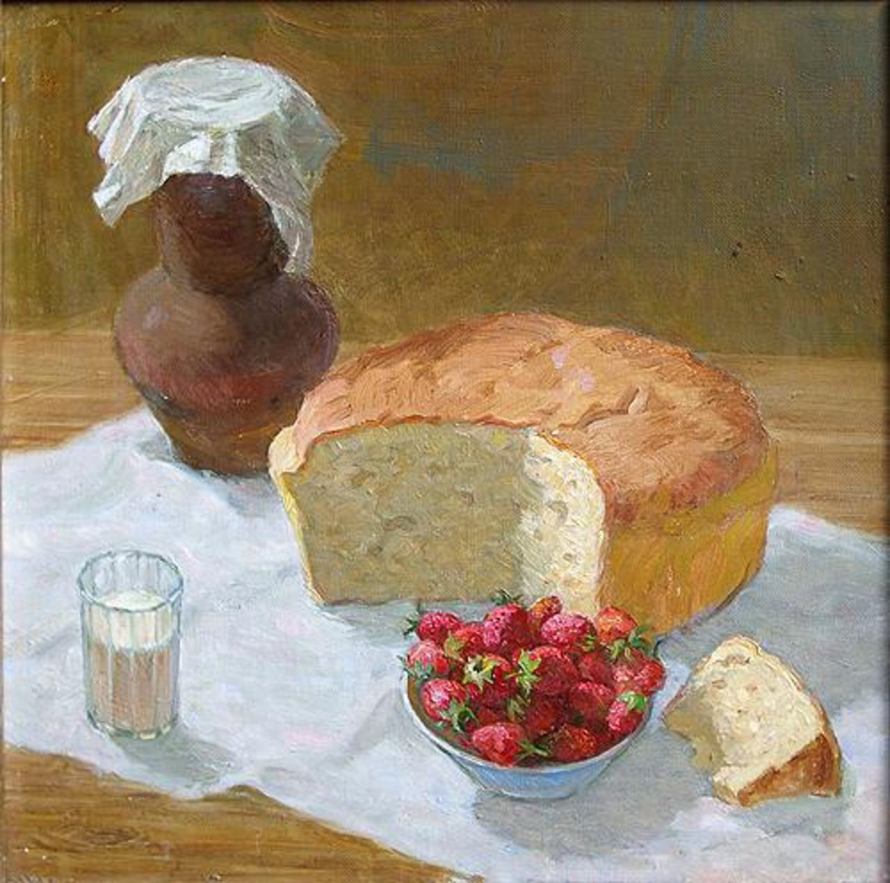 Ivan Lezhnin Still Life with Bread