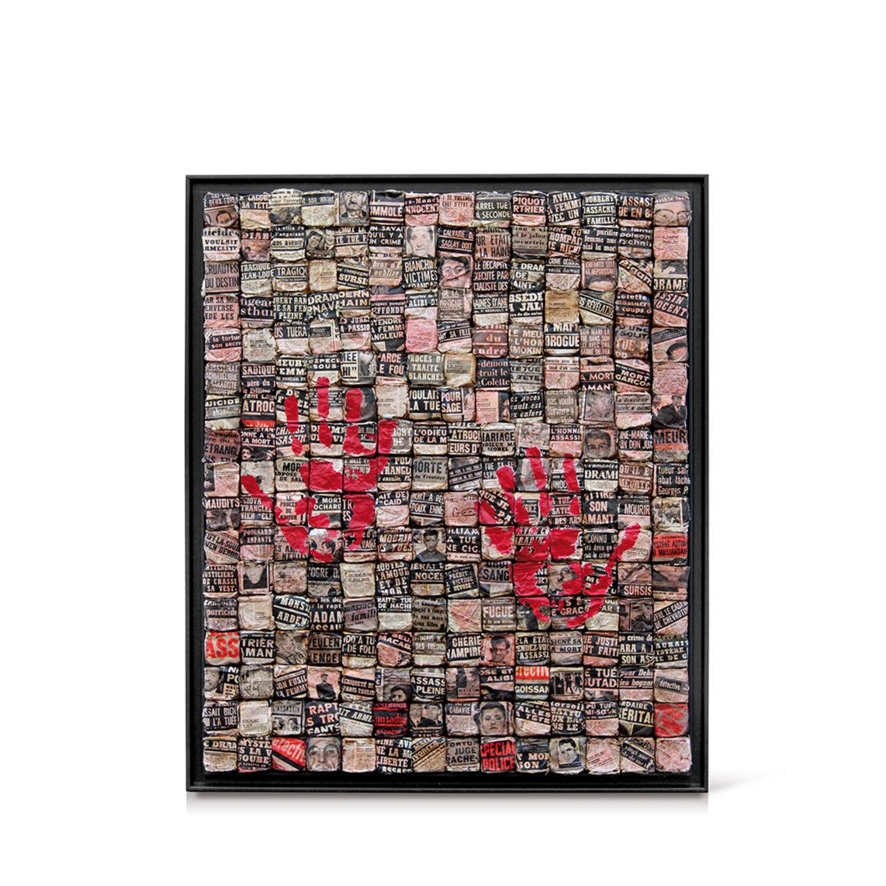 jean-michel buche 97 - Le mystère du cadavre aux mains inversées. 110X130cm