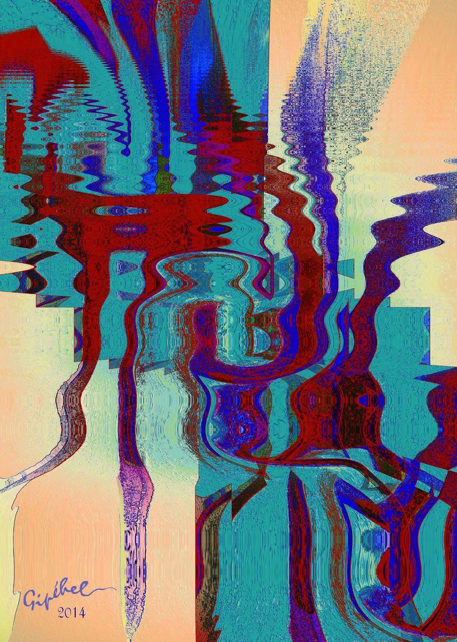 Jean-Paul Lecoeuvre Reflets dans l'eau