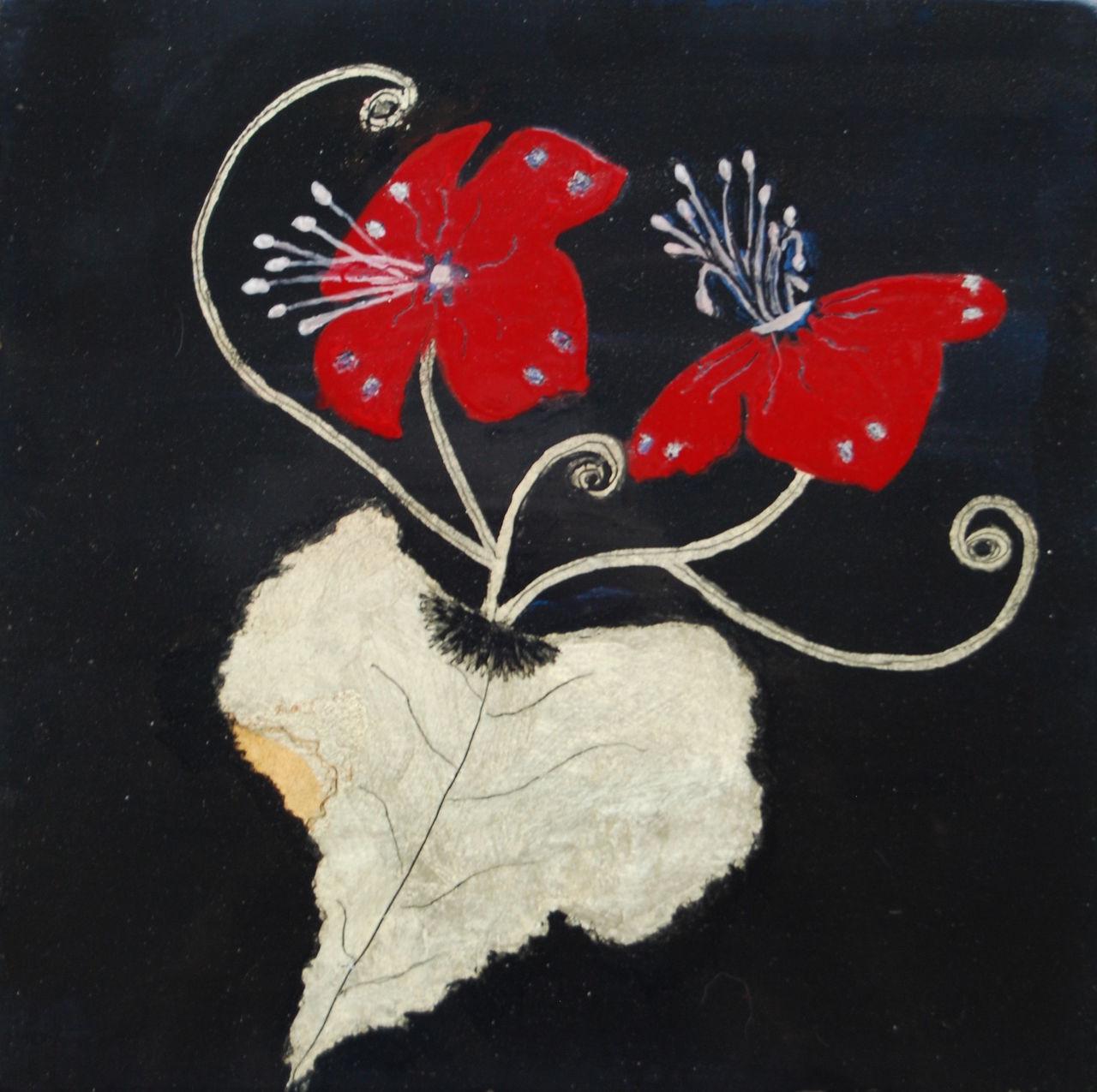 Jeanne-Marie Beuzard Fleurs rouges