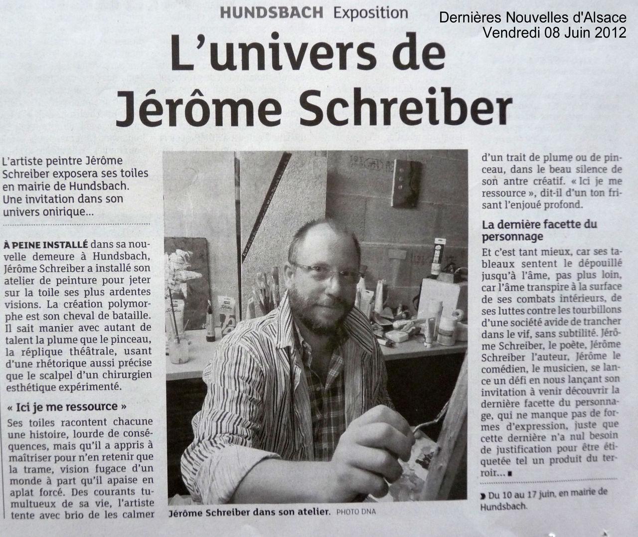 Jérôme SCHREIBER Presse DNA 08-06-2012