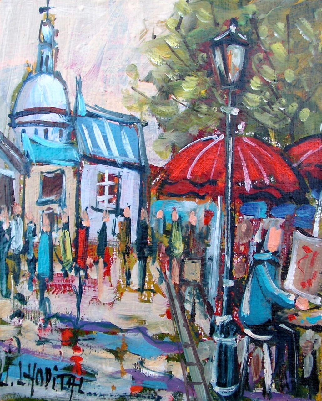 Joël Lhopital peintre à Montmartre