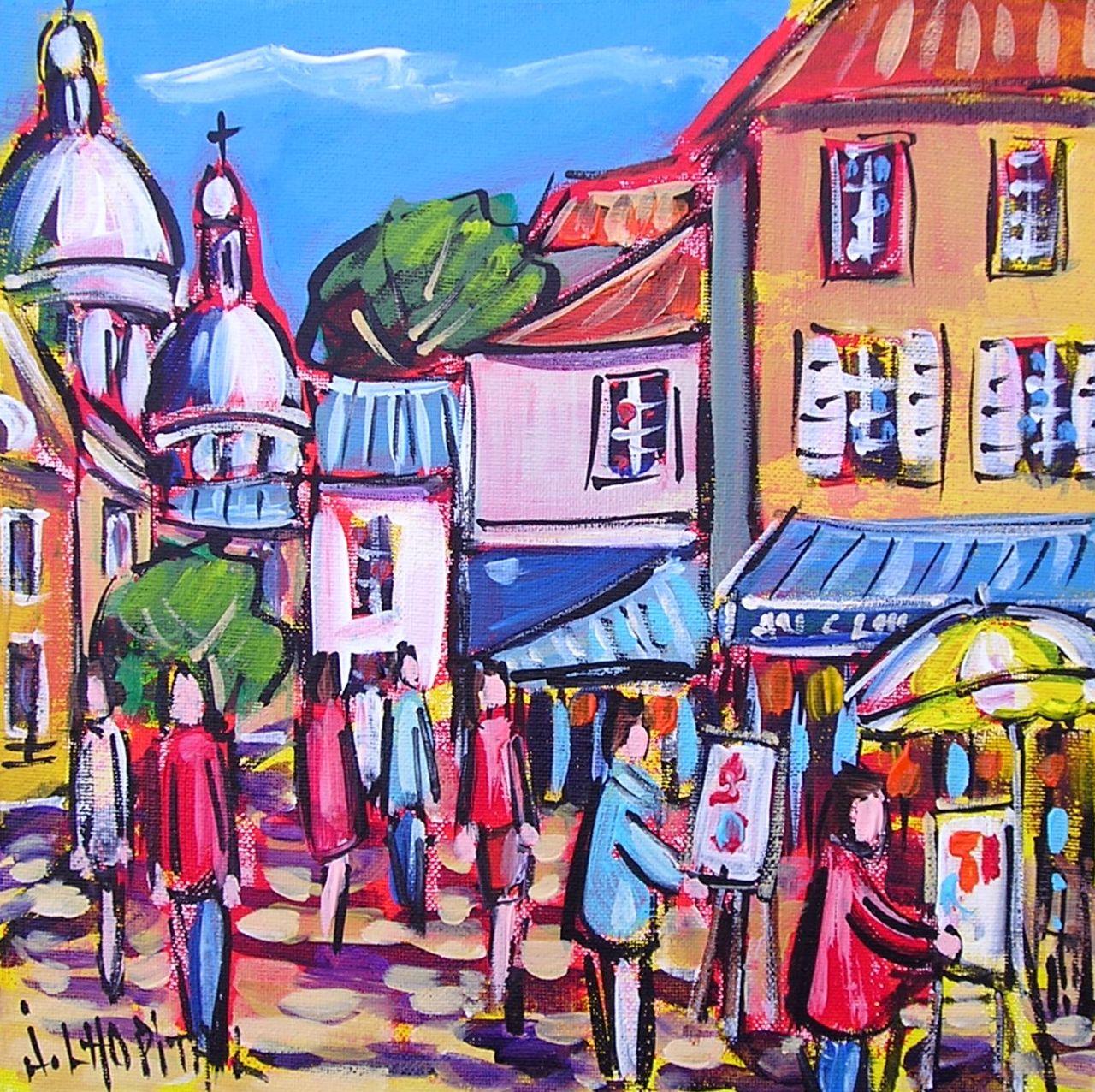 Joël Lhopital peintres à Montmartre