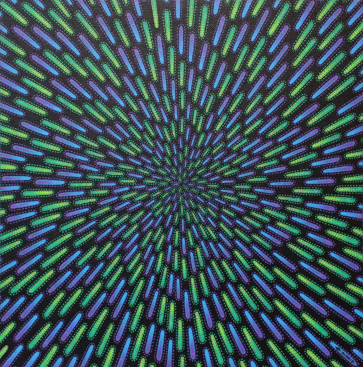 Jonathan-Pradillon Particule verte et violette